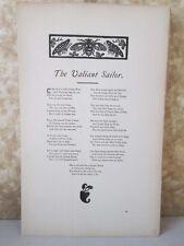 Vintage Print,VALIANT SAILOR,Real Sailors Songs,1891