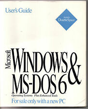 Microsoft Windows & MS-DOS 6 User's Guide - Original Book 1993