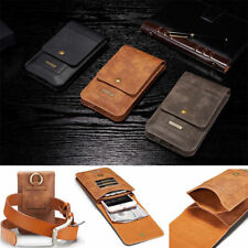 "6.5"" Universal Phone Leather Belt Clip Wallet Pouch Bag Card Holder Case Cover"