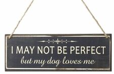 Dog loves me hanging wall sign