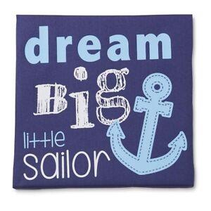 Tender Kisses Baby Love Nautical Dream Big Little Sailor Blue Canvas Wall Art