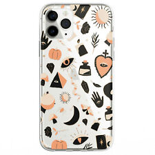 Halloween Bohemian Witchcraft Doodle Phone Case For iphone 11 12 13 Pro Max XR