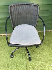 Ikea Gregor Swivel Chair In Grey Wicker