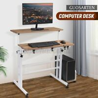 Adjustable Height Table Sit Stand Up Stand Computer Workstation Laptop Desk
