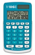 Texas Instruments Ti106ii Extra-large chiffres 4 fonction Calculatrice Ti-106ii