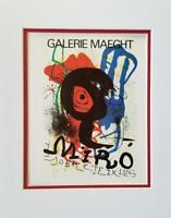 Joan Miro Sobreteixims Exhibition Poster Print Matted Offset Lithograph 1980