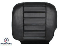 2005 Hummer H2 TV/DVD Running Boards-DRIVER Side Bottom Leather Seat Cover Black