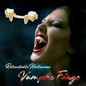 Halloween Party Cosplay Vampire Fangs Retractable Teeth Dress Costume Tooth Prop