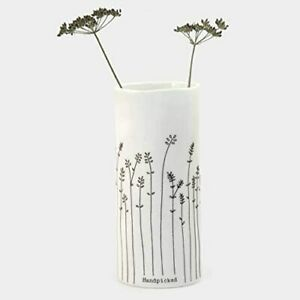 East of India Porcelain Bud / Flower Vase, Handpicked (5793)