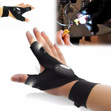 Finger Glove with LED Light Flashlight Tools Outdoor Gear Rescue Night Fishing