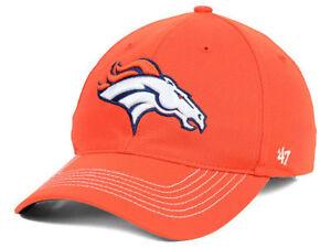 Denver Broncos NFL Game Time Closer Stretch Fit Orange Franchise Cap Hat Lid L/X