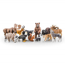 Toymany 12Pcs North American Forest Animal Figurines, Realistic Safari Animal