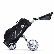 Black Alphard Deluxe Golf Club Bag That Converts Into A 4 Wheel Walking Cart