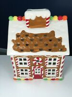 Harry Slatkin 2009 Ceramic Gingerbread House Candle Luminary No Base Decor Xmas