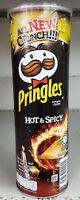 Pringles Hot and Spicy Flavored Potato Chips BURSTING WITH FLAVOUR Snack 110g.