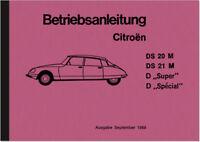 Citroen DS 20 21 M Bedienungsanleitung Betriebsanleitung Handbuch User Manual