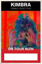 KIMBRA Primal Heart Tour 2018 Ltd Ed New RARE Poster +FREE Indie Rock Pop Poster