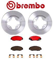For Honda Accord '90-'97 Front Brake Kit Vented Disc Rotors Ceramic Pads Brembo