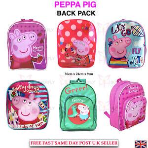 Kids Child Girls Boys Peppa Pig George Backpack School Lunch Rucksack PE Bag
