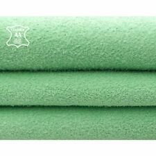 Bright Green Suede Leather Material // Genuine Lambskin Fabric Hides // Mint Gre