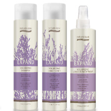 Natural Look Expand Volumizing Shampoo, Conditioner 375ml & Spray 250ml SLS Free