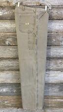 WRANGLER Mens 38/32 Relaxed CARPENTER WORKWEAR Jeans Beige Taupe DENIM 94LSWTM