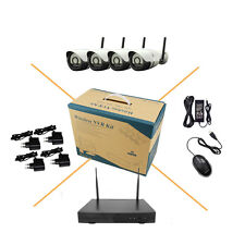 4CH Wireless IP Camera System 960P WIFI NVR KIT Outdoor Security P2P IOS Android