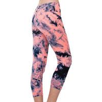 Sport Women Slim Tie Dye Dry Fit Elastic Fitness Yoga Tight Cropped Legging Pant