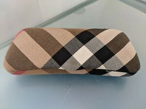 BURBERRY AUTHENTIC  EYEGLASSES HARD CASE  AS NEW