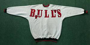 Vintage 90s Chicago Bulls Legends Athletic Pullover Spellout Sweater Sz XXL