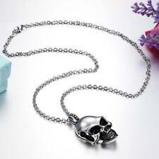 Fashion Men's Punk Skull Head Pendants Choker Chains Hip Hop Necklace Jewelry