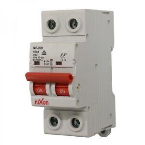 100AMP - 2 Pole Isolator Switchboard - Din Rail mount - Main Switch