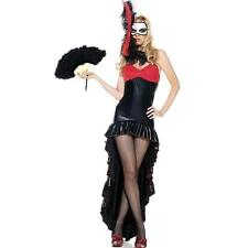 BE WICKED ~ $79 BURLESQUE DANCER BLACK & RED HALLOWEEN COSTUME SET SZ S/M NWT