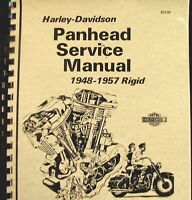 1948-1957 Panhead Harley-Davidson  Rigid  Service  Manual  Fully  Illustrated