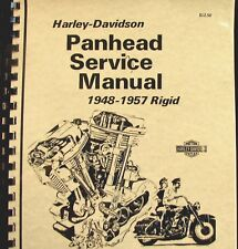 1948-1957 Panhead Harley-Davidson Rigid Service Manual Fully Illustrated Free Sh