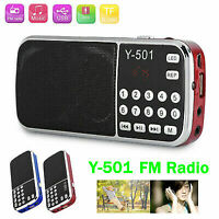 Y-501 Receptor de radio FM portátil digital Mini reproductor de MP3 USB con