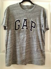 GAP Logo Crew neck men's T-Shirt Size: Medium Color: Space Dye Grey Marl.