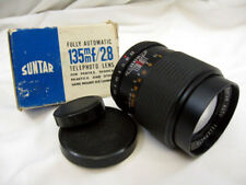 SUNTAR 135mm f2.8 PENTAX , YASHICA , PRAKTICA ETC , M42, SCREW MOUNT LENS
