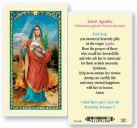 Prayer to Saint Agatha  Laminated catholic prayer card