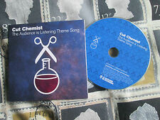 Cut Chemist The Audience Is Listening Theme Song  CDr PROMO UK CD SINGLE