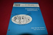 """Ford Tractor 34"""" Snow Auger For 75 70 Lawn Tractor Operator's Manual Chpa"""