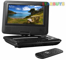 "7"" Inch Portable DVD Player With Swivel Screen, 12V In Car Charger & Remote *U*"