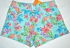 Gymboree Mix N Match Tropical Flower & Pineapple Blue Shorts 10 12 Kid Girls NWT