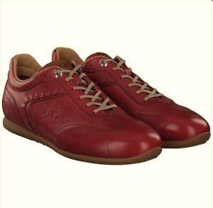 LA MARTINA Herrenschuhe Sneaker Schnürer Echtleder rot red LFM201110 NEU + OVP