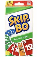 Mattel Uno Skip-Bo Card Game 162 Cards And Instructions Perfect Gift