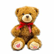 "Build A Bear 20th Birthday Brown Teddy Bear 2017 Red Ribbon 10"""