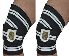 WEIGHTLIFTING KNEE WRAPS GYM TRAINING SUPPORT BANDAGES STRAPS