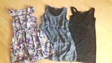 3 Kleider -schwarz, blau & blau mit Blümchen- Gina Benotti, Gr 40/42 (Paket 22)