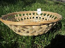 Woven Serving Tray Basket - Wicker Rattan - Size 3-1/2 x 11-1/2