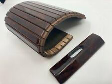 For Mercedes W124 Rollup Center Console Storage Box Walnut Wood Sliding Wood